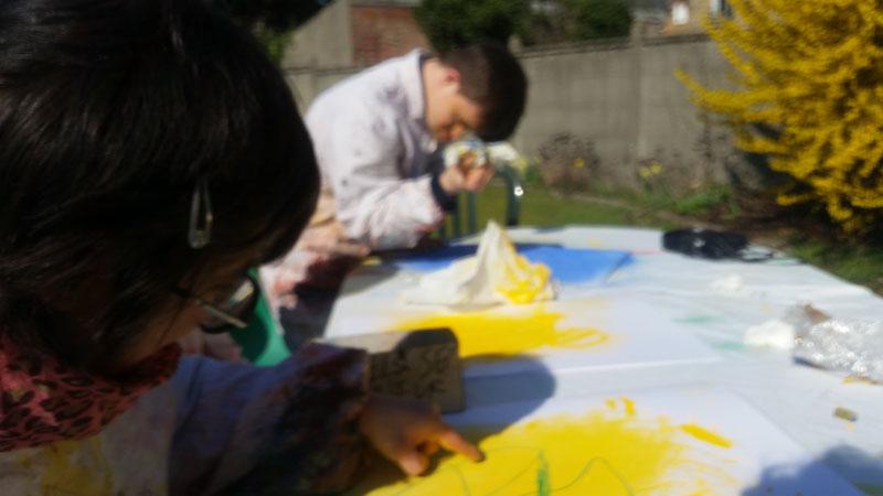 art-thérapie pour personns handicapées Versailles, 78 Yvelines, psychothérapie par la peinture