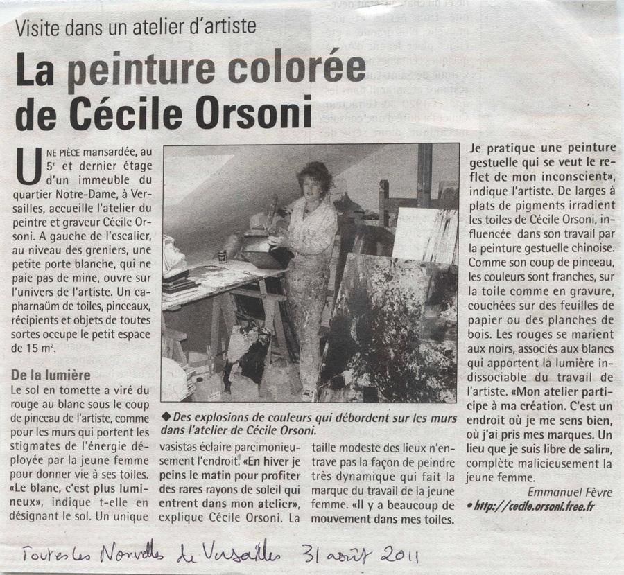 peintures abstraites, gestuel, peinture de Cécile Orsoni, atelier de Cécile Orsoni, Versailles
