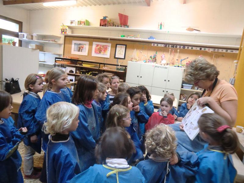 cours de peinture pour enfants Versailles Cécile Orsoni