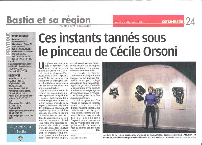 Cécile Orsoni art-thérapeute artiste Versailles Bastia