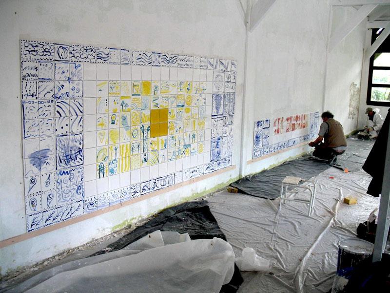 travail de l' artiste Cé cile Orsoni avec les ecoles, 78