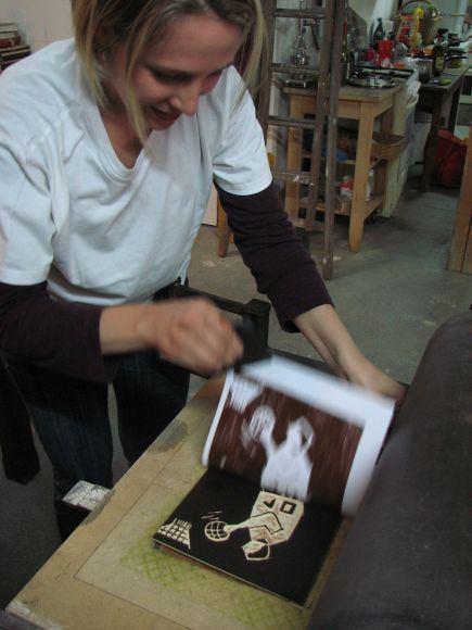 stage de gravure sur bois atelier Cécile Orsoni Versailles