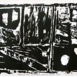 Gravure sur bois de Cécile Orsoni Sakima Art Muséum, Japon