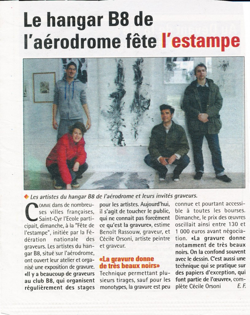 Exposition d'estampes de Cécile Orsoni pour la Fête Nationale de l' Estampe