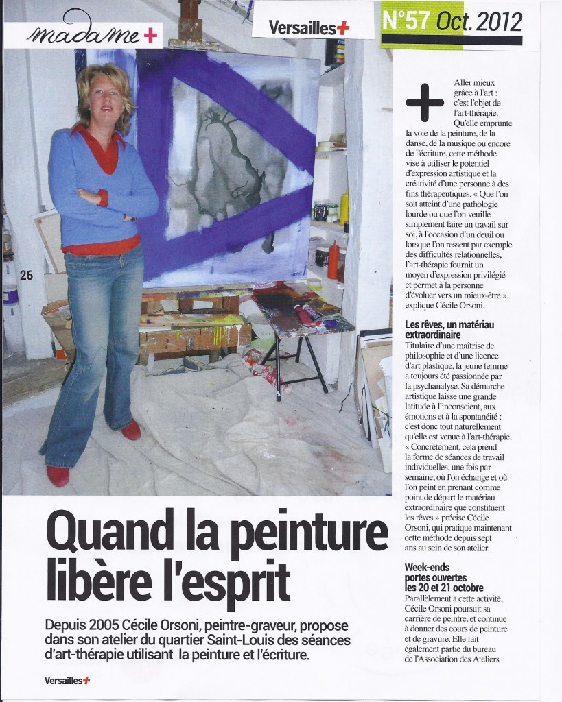 Cécile Orsoni, art-thérapeute à Versailles