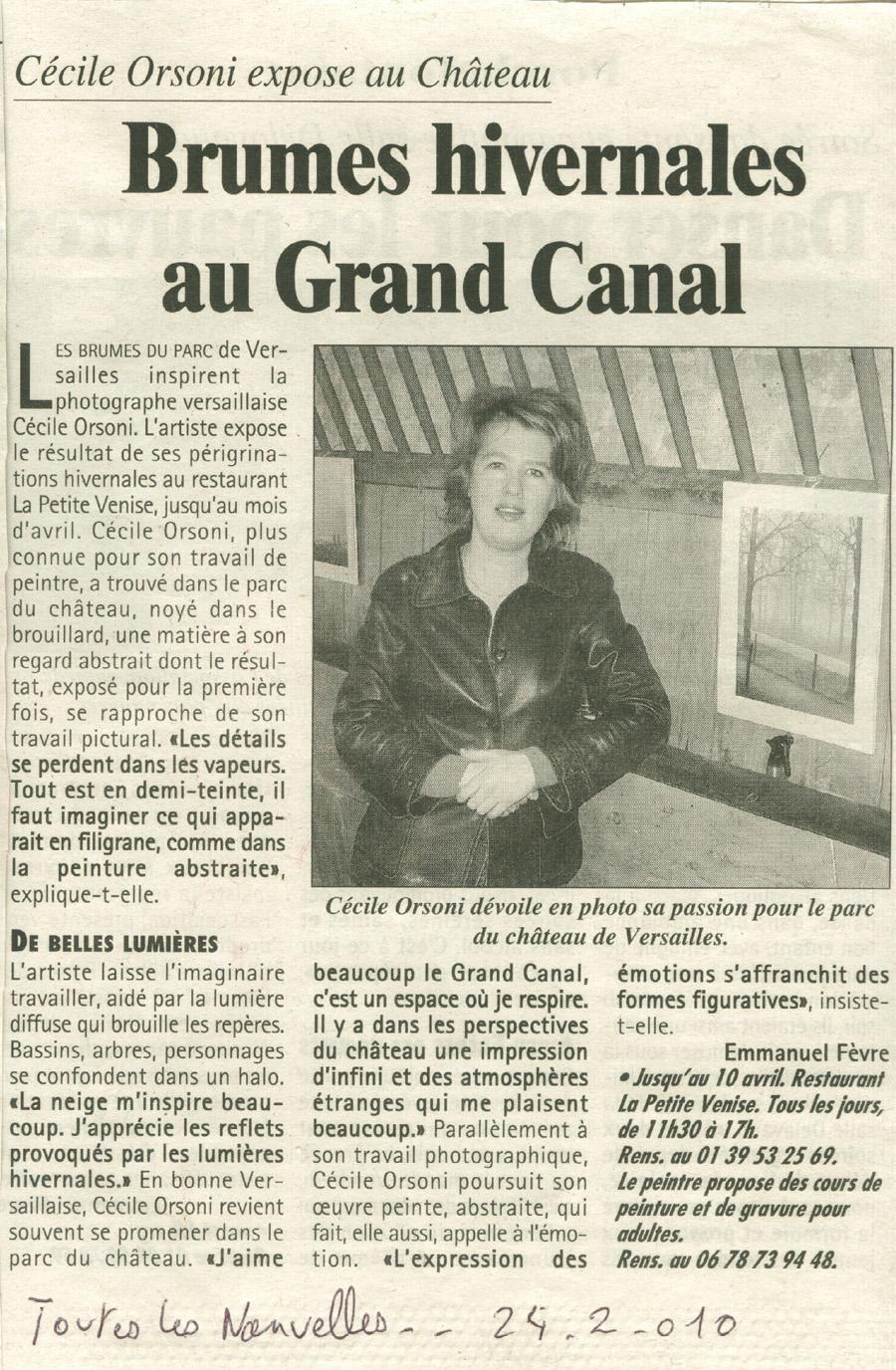 exposition photo de C.Orsoni au Chateau de Versailles