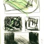 dessin, abstrait, crayon aquarelle, croquis