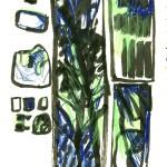 dessin, abstrait, encre de chine, croquis