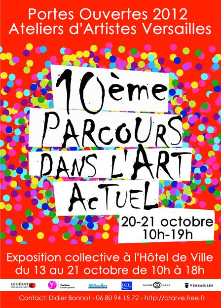 Affiche portes ouvertes des ateliers d'artistes de Versailles , octobre 2012