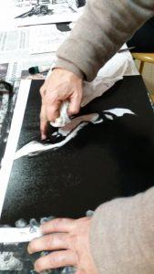 cours et stage de gravure Versailles Bastia