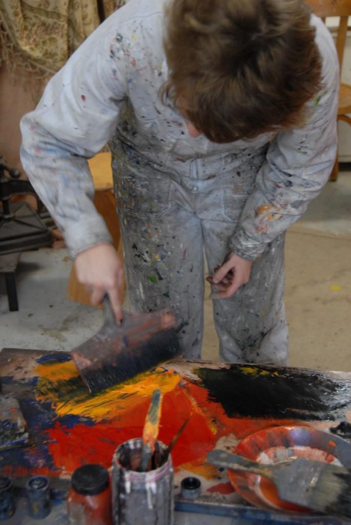 stage de peinture à l'huile atelier Cecile Orsoni Versailles