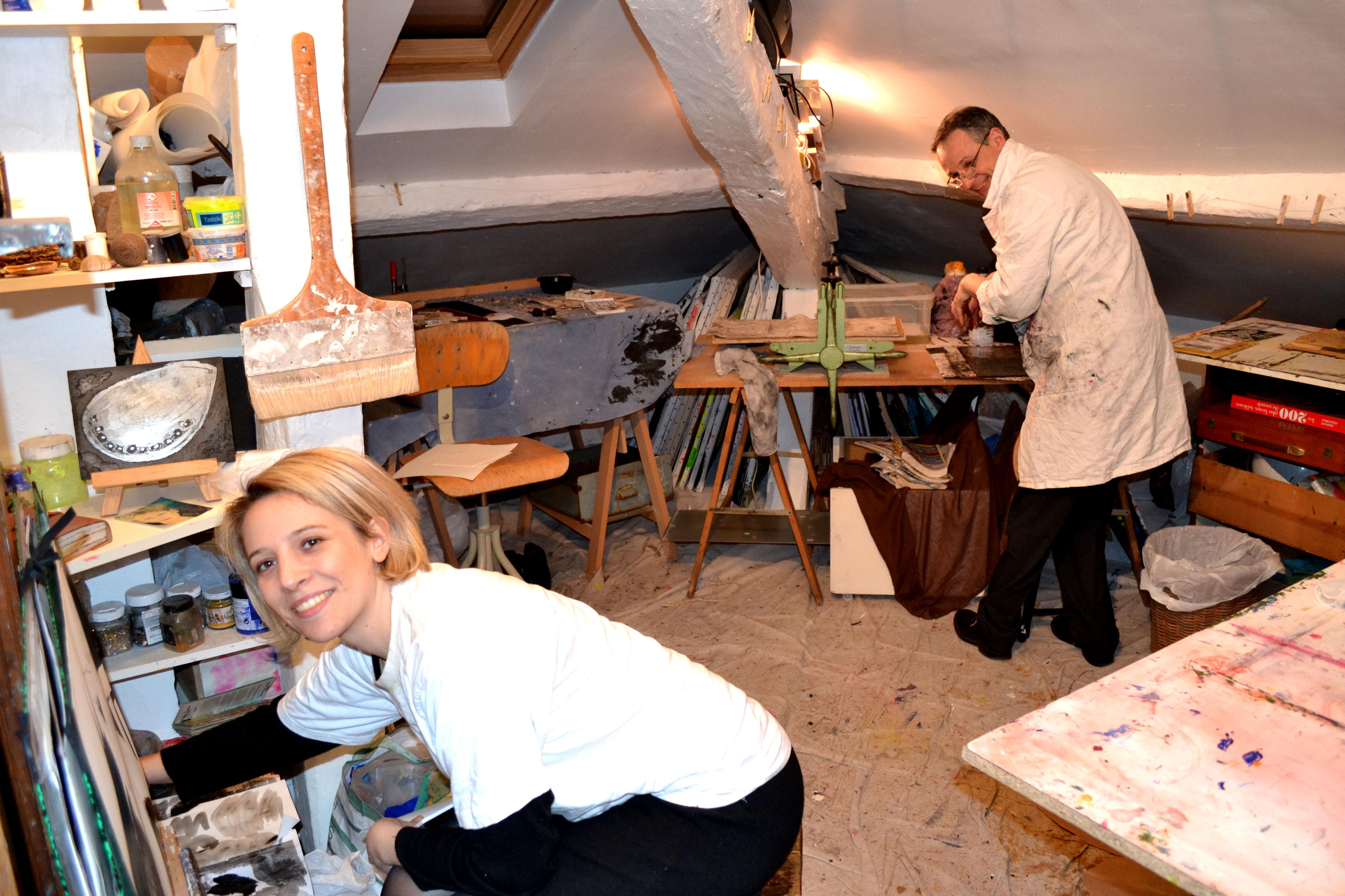 Cours adultes gravure, peinture , dessin, modelageVersailles