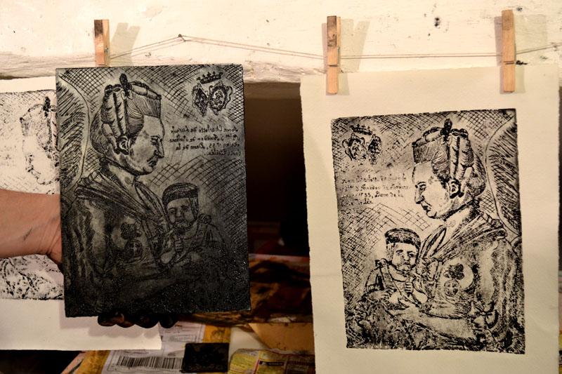 cours de gravure sur cuivre