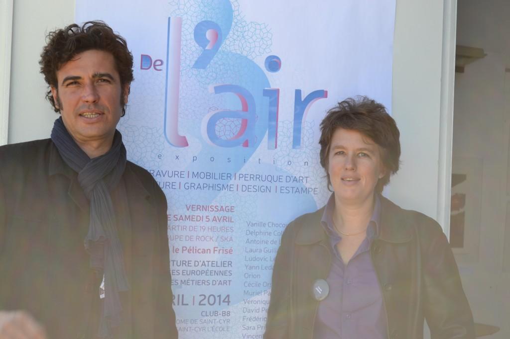 Exposition De l' Air: les organisateurs C.Orsoni et B.Rassouw