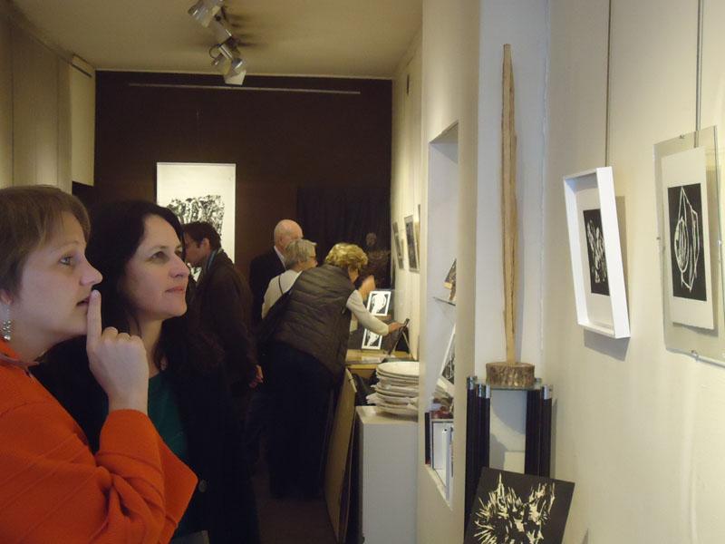 """Vernissage exposition """"Cécile Orsoni, gravures sur bois"""" galerie Guillet Paris"""