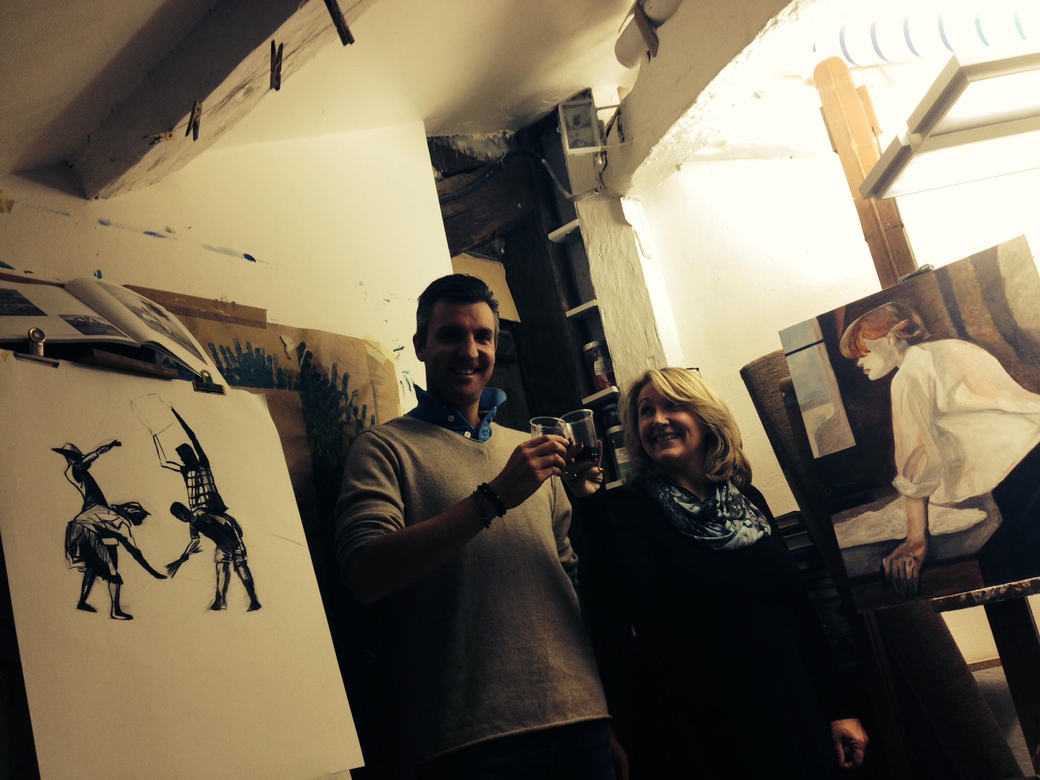 Cours adultespeinture, dessin, gravure atelier Cécile Orsoni Versailles nocturnes stages