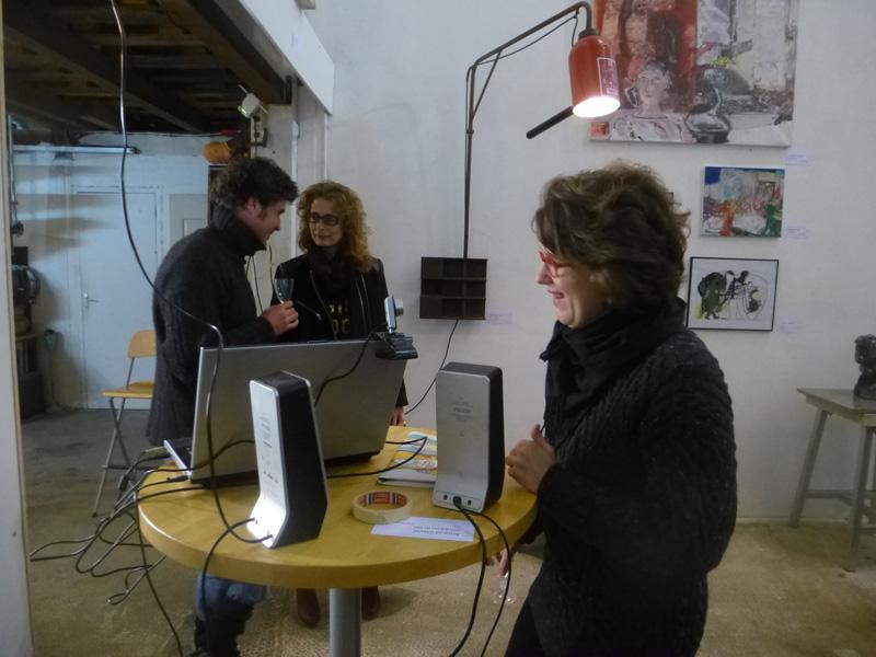 l'artiste Cécile Orsoni organisatrice de l'évènement