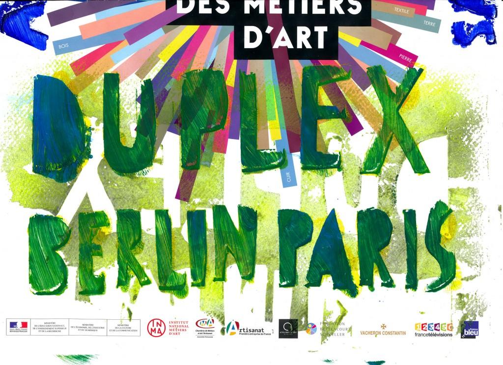expositin journées européènnes des métiers d'art 2015 Duplex Berlin-Paris