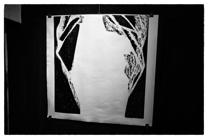 Cécile Orsoni exposition Percée Paris, gravures sur bois et livre d'artiste