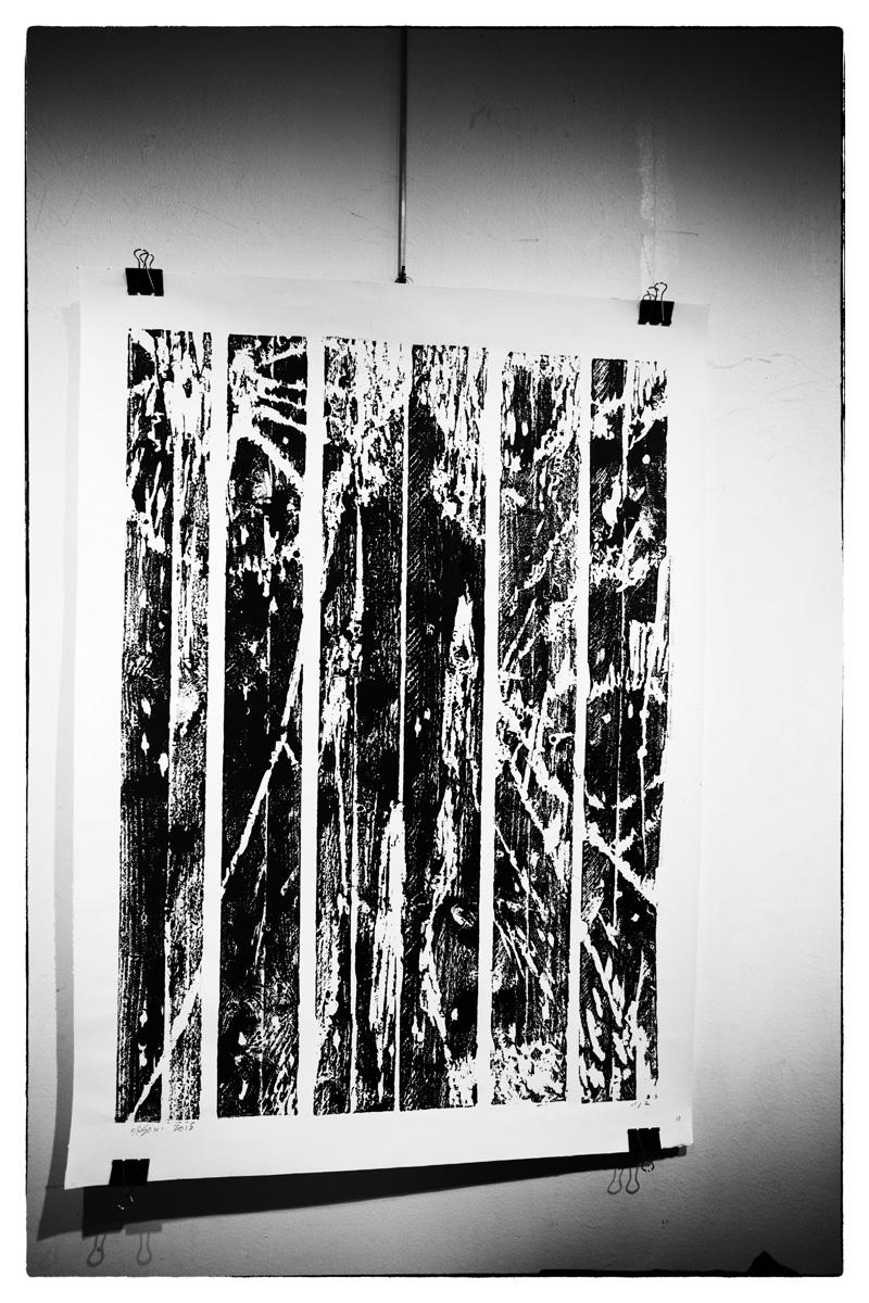 Cécile Orsoni exposition Percée , gravures sur boisParis