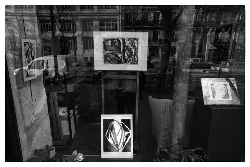 exposition Percée, Cécile Orsoni gravures sur bois , galerie Guillet Paris