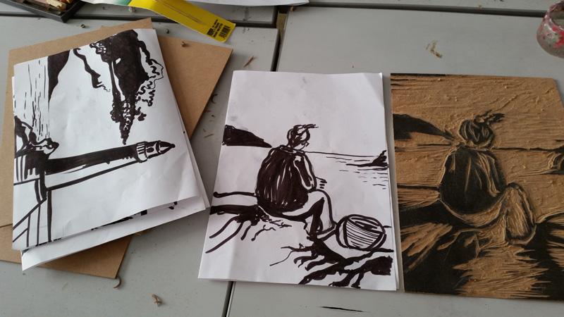 stage gravure sur bois Cécile Orsoni Bastia Versailles