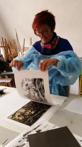 stage gravure sur bois Versailles Bastia Cécile Orsoni
