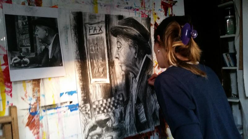 cours pour adultes dessin , peinture, gravure atelier Cécile Orsoni Versailles