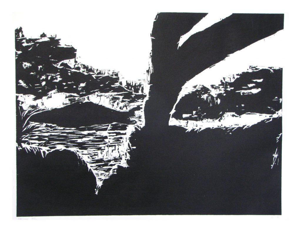 gravure sur bois Cécile Orsoni art-thérapeute, artiste