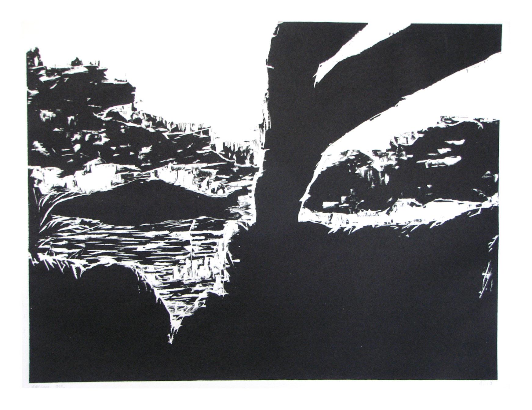 gravure sur bois Cécile Orsoni Kiki Dimoula Athènes