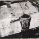 Gravure sur plexiglass avec carborundum de Cécile Orsoni