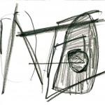 dessin de New York, dessin, abstrait, crayon aquarelle, croquis