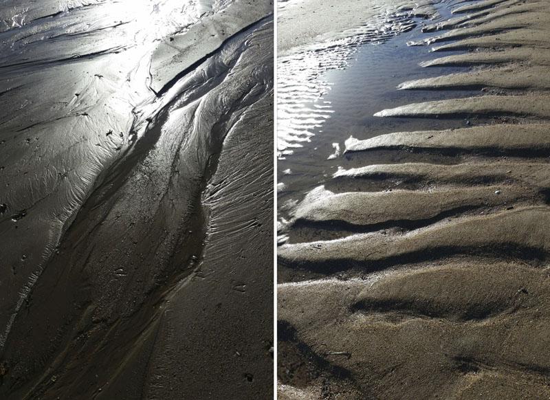 empreintes de mer , sculptures de Cécile Orsoni 2020 plage de saint Lunaire